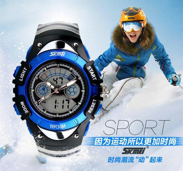 Cool 3 Hands Analog Digital Watch Children Favorite Rubber Sports Wristwatch Luminous Chronograph Clock Students 3ATM NW764
