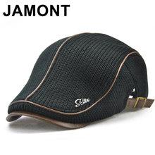 43d05942c5fef Jamont hombres de punto Boina de lana Cap invierno cálido sombrero para  hombre pico visera Flat