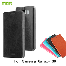 Для Samsung Galaxy S8 случае MOFI люкс Флип Стенд книги чехол для Samsung Galaxy S8 5.8 дюймов Высокое качество флип PU кожаный чехол