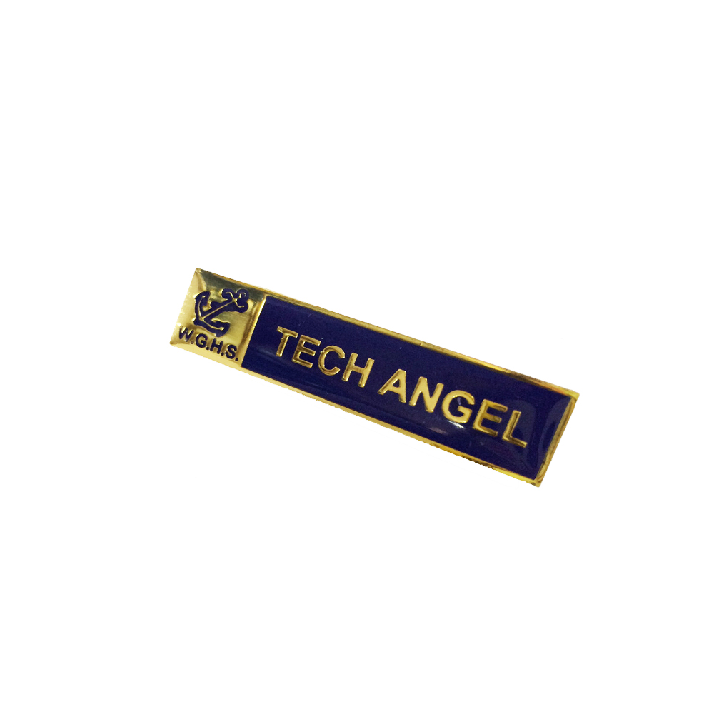 Custom Name Badge with Butterfly Clutch or Safety Pin Backing Lapel Pin