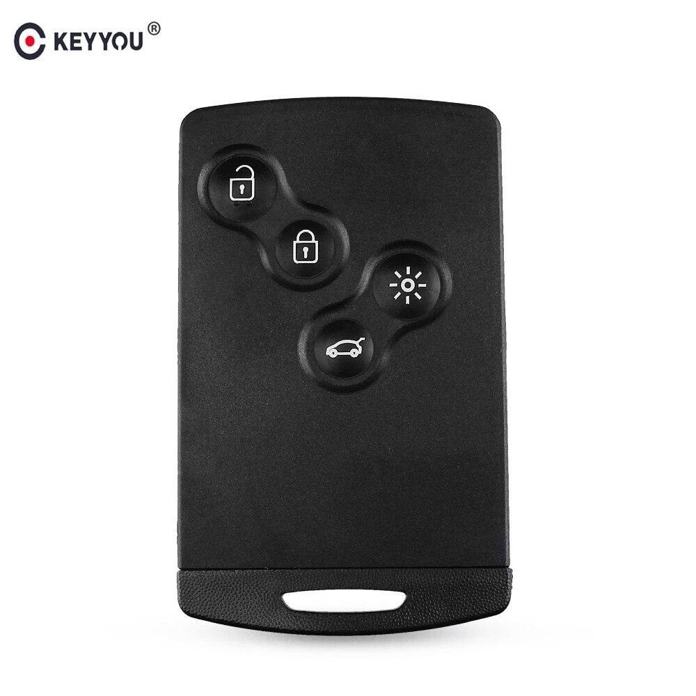 KEYYOU Key-Shell Megane-Fob Koleos Smart-Card Remote Laguna Renault 4-Buttons Original