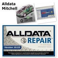 2019 новейший Автомобильный ремонт Alldata программное обеспечение V10.53 Авто Ремонт Alldata Mitchell ondemand 5 V2015 программное обеспечение usb жесткий диск 1 Т