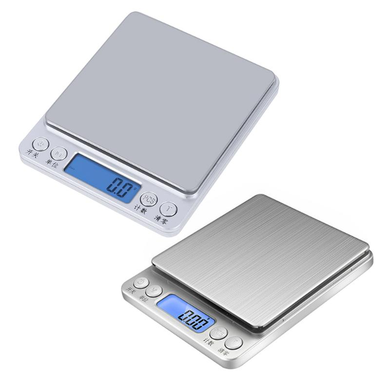 High quality 500gx0.01g/3kgx0.1g Aluminum Alloy Case Digital Gram Pocket Electronic Jewelry Scale Weight Kitchen Bench Weight