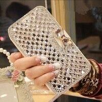 For Samsung S9 Diamond Leathe Case 2018 Luxury Bowknot Crystal Flip Leather Case For Samsung S9