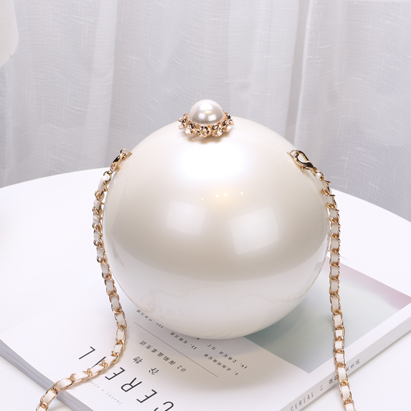 Hasp Round Ball Women Evening Bag Acrylic Plastic  Chain Cross Body  Shoulder Bag Women Day Clutch Purse Wallet  Handbags mini fashion women round ball day clutch evening bag shoulder messenger bag wallet wedding party chain purse banquet bolsa li820