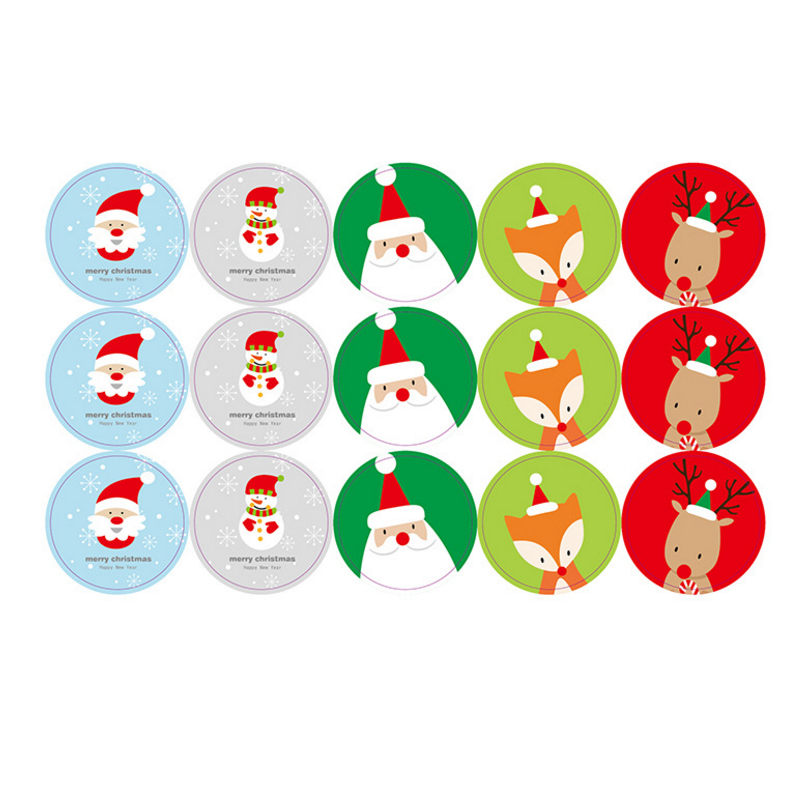 1X Merry Christmas Santa Claus Decorative Stickers Adhesive Stickers DIY Decoration Diary Stickers  Label Sealing Stickers