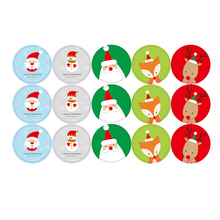 1X Merry Christmas Santa Claus Decorative Stickers Adhesive Stickers DIY Decoration Diary stickers  Label sealing stickers цены онлайн