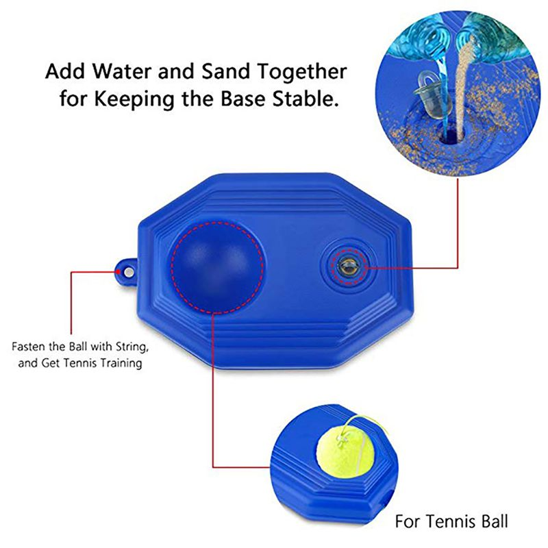 2019 Tennis Ball Trainer Self-study Baseboard Player Training Aids Practice Tool Supply With Elastic Rope Base