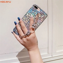 ФОТО hocayu cheap fancy bling glitter mobile phone case for iphone x 7 8 6 plus laser tpu soft back cover capa fantasia drop shipping