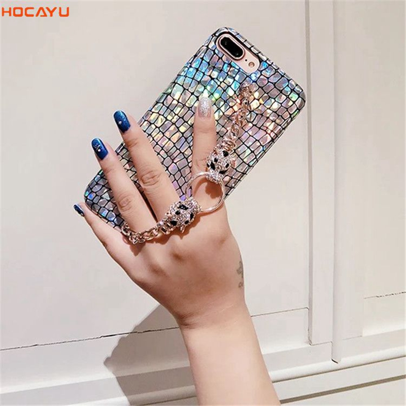 HOCAYU Cheap Fancy Bling Glitter Mobile Phone Case for Iphone X 7 8 6 PLUS Laser TPU Soft Back Cover Capa Fantasia Drop Shipping