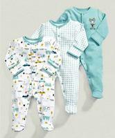 3pcs Set Kids Bebes Clothes Set Baby Boy Girl Newbreon Rompers 0 12M Baby Clothing Set