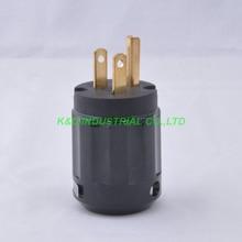 2pcs Guitar Audio Grade AMP AC Main US Power Plug Male Polish Brass Black huiyishun ys 400 4 loads audio video amp splitter black ac 220v uk plug