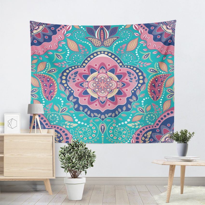 Us 5 08 48 Off Ethnic Tribe Bohemian Tapestry Indian Mandala Style Psychedelic Wall Hanging Living Room Decorative Rugs Beach Towel 3 Size In