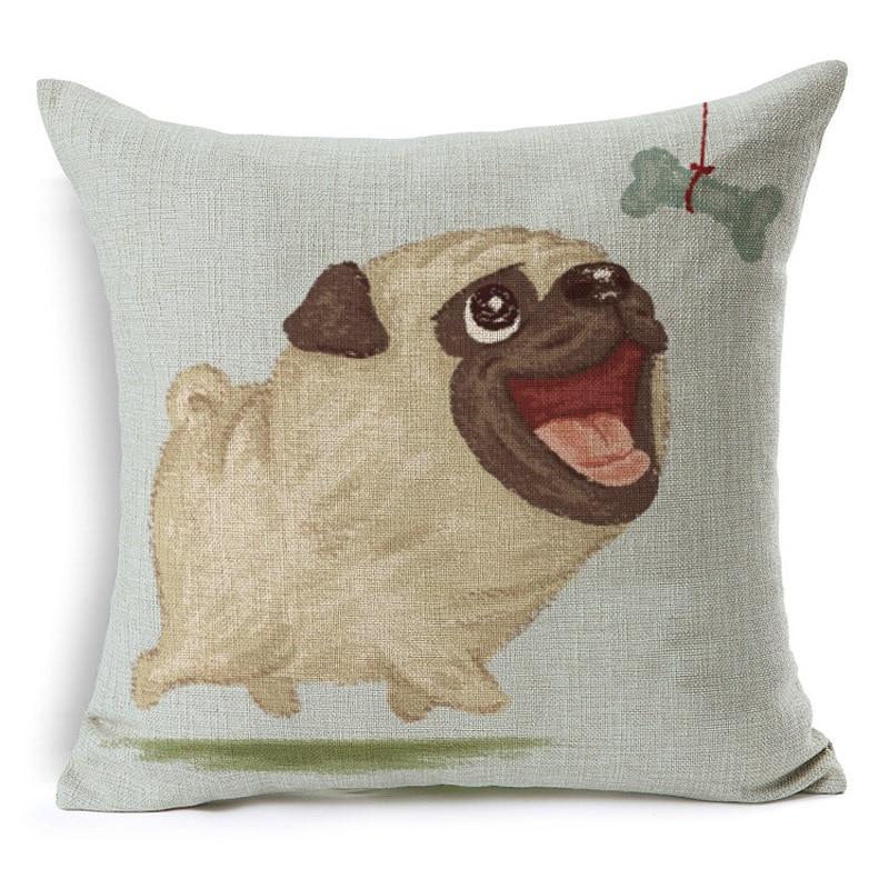 RUBIHOM Frenchie Polyester Cushion Wihtout Inner French Bulldog Animal Pillow Pattern Design Decorative Throw Pillows Sofa Cojin ...