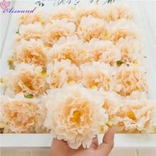 5 шт./лот искусственный шёлковый Пион цветок голова с тычинки для свадебного украшения DIY большой красный пион цветок Flori высокое качество