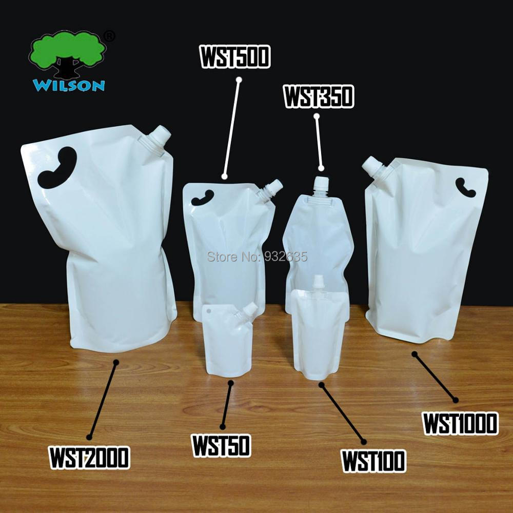 (2000 ML) WST2000 White Color Stand UP Spout Bag 20 PCS, Sauce Laundry detergent Bathing Dew Sauce Jelly Bag,Food Grade