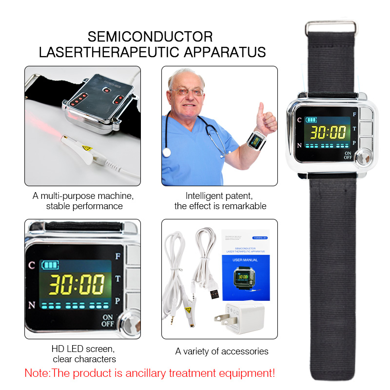 High blood pressure diabetes cholesterol rhinitis treatment cerebral thrombosis medical device laser therapy wrist watch diode laser therapy apparatus treatment of diabetes semiconductor laser therapy device watch for high blood pressure