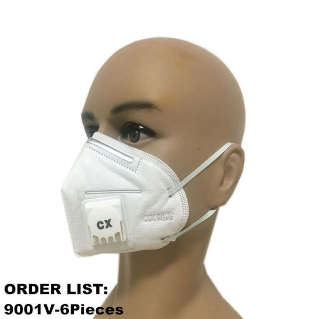 Valved Pm2 Respirator Disposable 5 Mask Non Woven Dust Filters