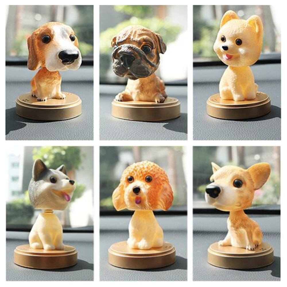 Bobble Head Dog Dashboard Lover Nodding Figures Bobblehead Gift Doll Decor Car
