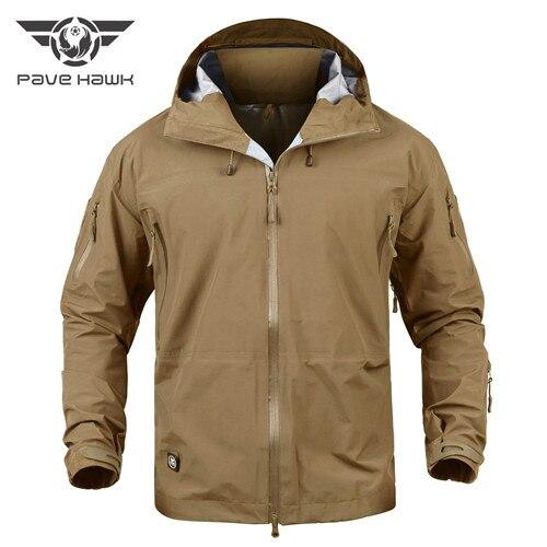 Military Gear Waterproof Hardshell Outdoors Jacket Men Army Tactical Jacket Spring Camo Windbreaker Coat Camouflage Hunt