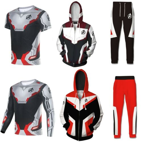 The Avengers 4 Endgame Quantum Realm 3D Printed Hoodie Cosplay Costume Sweater Zipper Jacket Tee T-shirt Pants Pullover