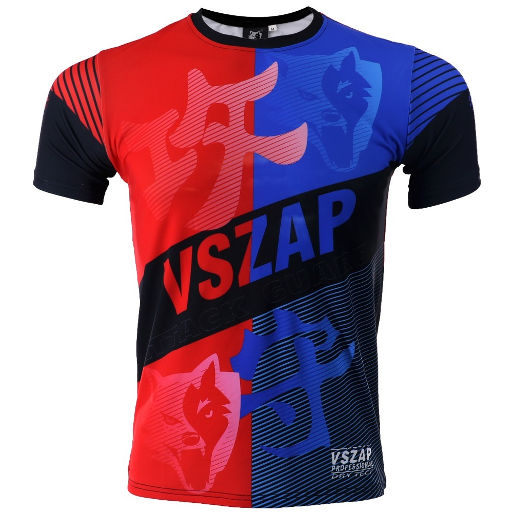 VSZAP Boxing T Shirt Compression Shirts FIGHTERS Men MMA Gym Kickboxing Muay Thai Boxing Training Fit Dry Mma Shorts Fight Pant