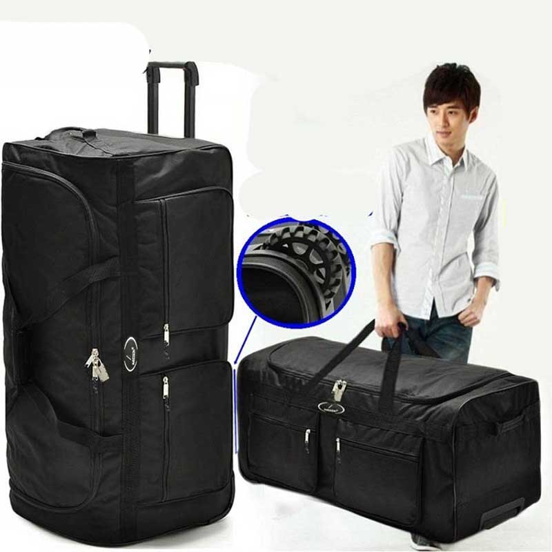 BeaSumore Ultralight High capacity Foldable Rolling Luggage Travel Bag 36 inch waterproof Suitcase Trolley Oxford cloth trunk BeaSumore Ultralight High capacity Foldable Rolling Luggage Travel Bag 36 inch waterproof Suitcase Trolley Oxford cloth trunk