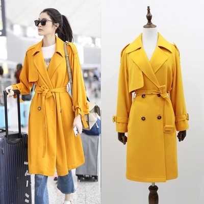 UK Brand new Fashion 2018 Fall /Autumn Women Casual Simple Classic Double Breasted Trench coat Chic Female windbreaker