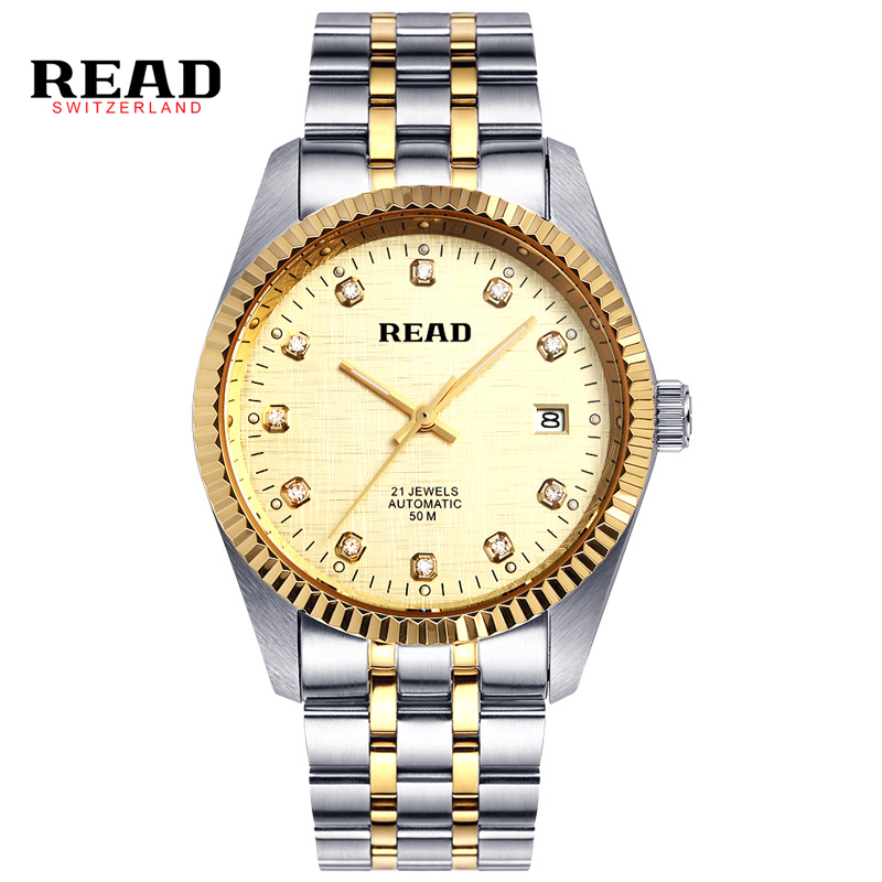 Luxury Brand READ Chronograph Sport Watches Men reloj hombre Full Stainless Steel Quartz Watch Clocks Relogio Masculino R8007 luxury brand casima men watch reloj hombre military sport quartz wristwatch waterproof watches men reloj hombre relogio