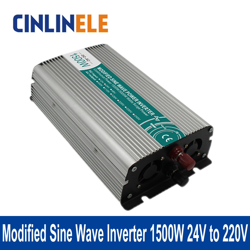 ФОТО Shine Series Modified Sine Wave Inverter 1500W CLM1500A-242 DC 24V to AC 220V 1500W Surge Power 3000W