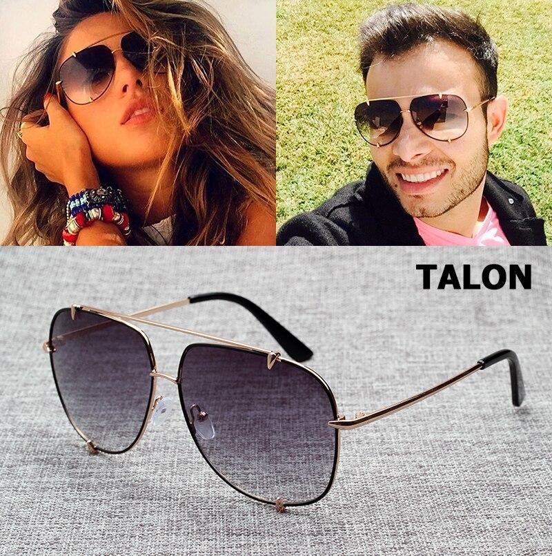 ed6b96a4761 JackJad Hip Hop Fashion TALON Style Aviation Gradient Sunglasses Cool Metal  Spikes Brand Design Sun Glasses
