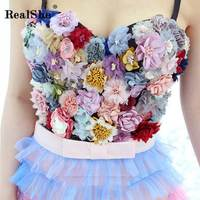 RealShe 2019 Tank Tops Women V Neck Sleeveless Backless Floral Tank Top Ladies Summer Fashion Party Short Camisole T Shirt