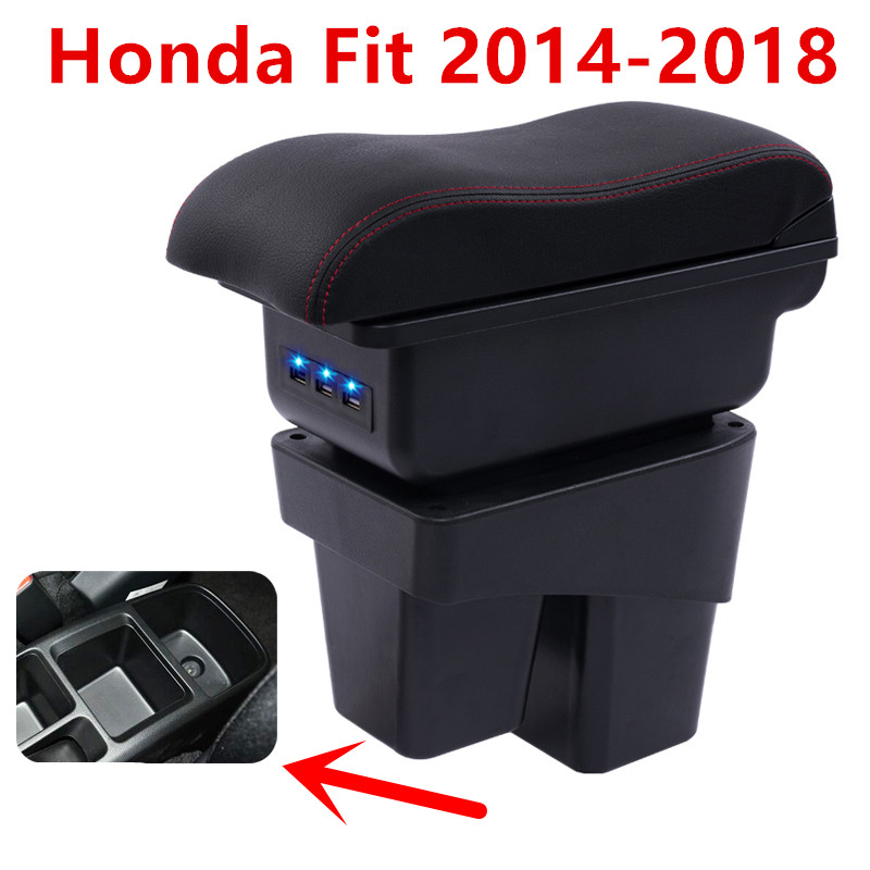 Back To Search Resultsautomobiles & Motorcycles Armrest Box For Honda Fit Jazz 2014 2015 2016 2017 2018 Central Console Arm Store Content Box Cup Holder Ashtray Car Styling