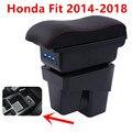 Für Honda Fit Jazz 3rd generation armlehne box zentralen Speicher inhalt Lagerung box mit tasse halter aschenbecher usb schnittstelle 2014  2017-in Armlehnen aus Kraftfahrzeuge und Motorräder bei