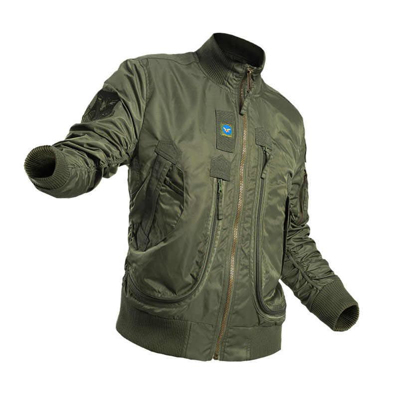 Mege marka mężczyźni Tactical odzież militarna modna kurtka Bomber Army Parka Outdoor Windproof Multipockets Combat Airsoft znosić