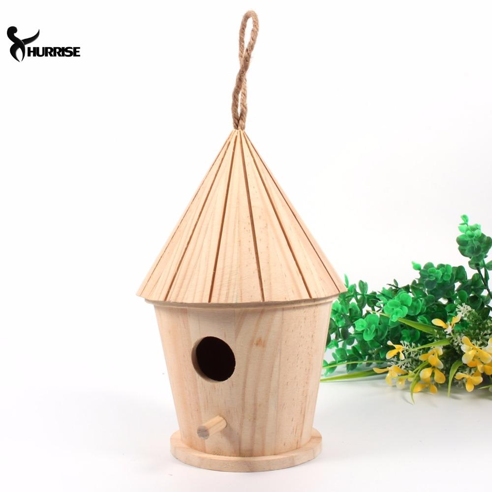 En bois diy oiseau maison mini nichoir suspendu décoration décoration de noël intérieur extérieur nid nichoir
