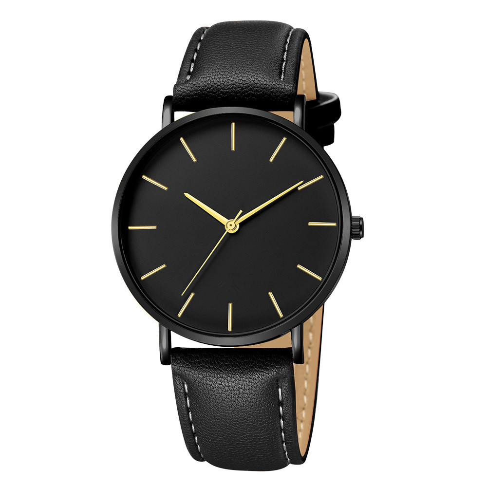 Quartz Watches Enthusiastic Drop Shipping Watch Mens Geneva Date Alloy Case Synthetic Leather Analog Free Shipping Quartz Sport Watches Lovers Gift Z1030 Easy To Lubricate Men's Watches