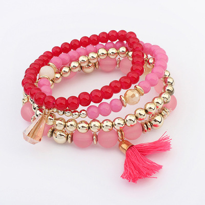 2018 Chinese style tassel bracelet four piece fashion party leisure accessories young girl favourite bracelet free shipping