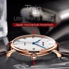Автоматические часы Для мужчин Дата роскошные кожаные механические часы Для мужчин роскошные модный бренд часы 2018 Relogio masculino Баян коль saati