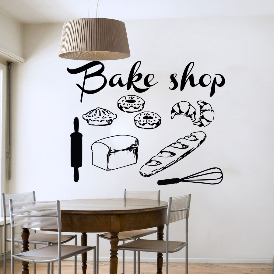 bakery shop vinyl wall decal bakery kitchen cafe shop sign cafe wall stickers ebay