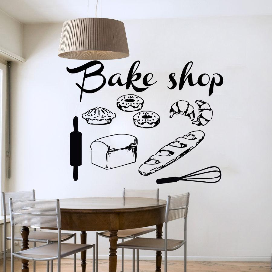Tiendas De Utensilios De Cocina | Tienda De La Panaderia Pared Del Vinilo Panaderia Utensilios De
