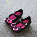 Baby Girl Sandals 2017Shoe Sol Children Frozen Sandals Bow Korean Fish Mouth Sandals Breathable Waterproof Jelly Baby Girl Shoes