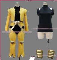 free shipping Customized JoJo's Bizarre Adventure movie Dio Brando Cosplay Costume (yellow) from JoJos Bizarre Adventure