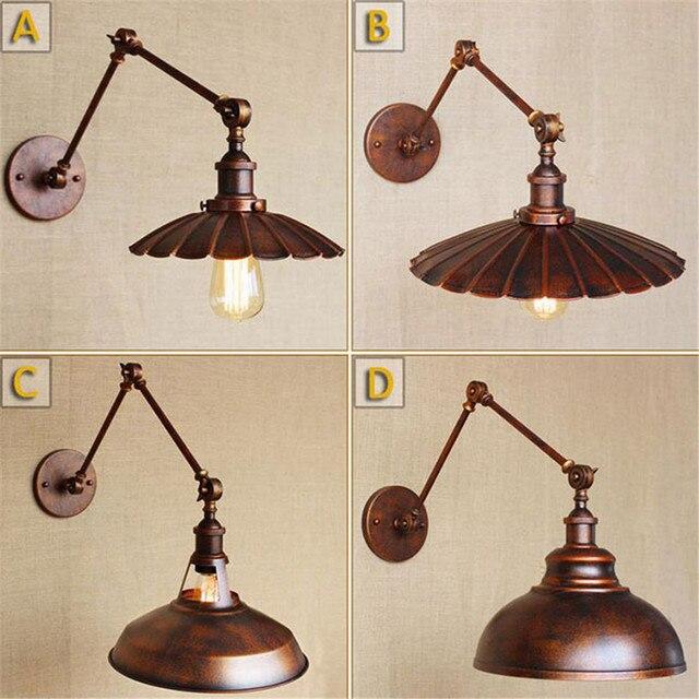 Rétro Lampe de Mur de Fer Forgé Loft Industriel Lampes Applique ...