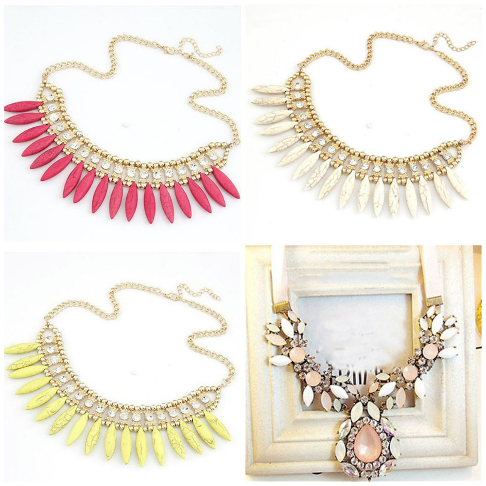 Hot Sale Brand Design Western Style Multilayer Pendants Rhinestone Flowers Necklace Jewelry Statement Charm Choker Necklace