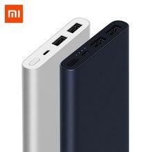 10000 мАч Xiao mi power Bank 2 Внешний аккумулятор для быстрой зарядки Dual-USB портативный Alu mi nium Быстрая зарядка mi power внешний аккумулятор