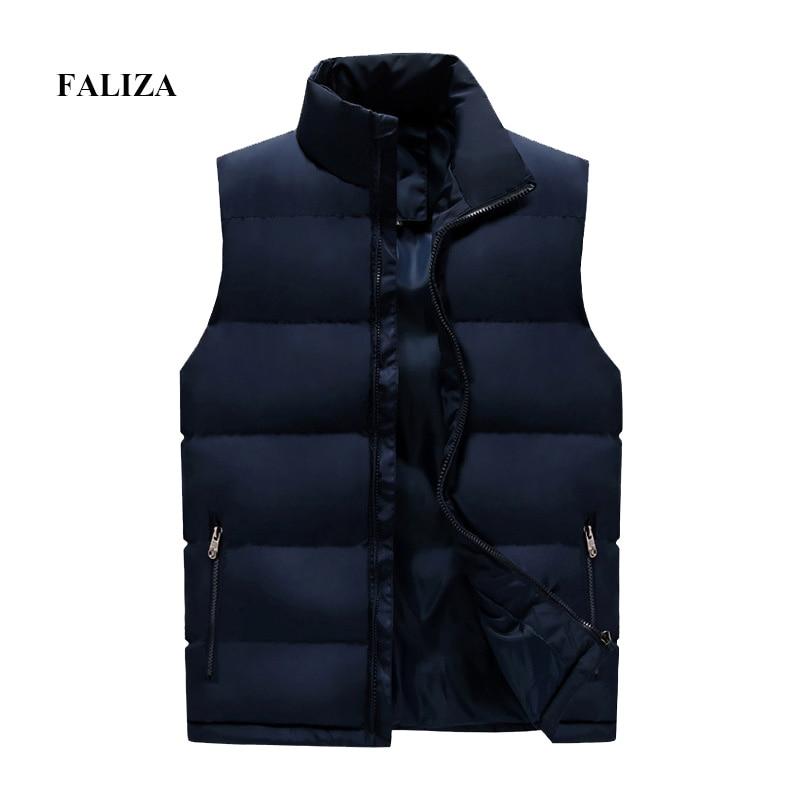 Image 2 - Faliza 新ブランドメンズ冬のノースリーブジャケットとコート男性のベストオム冬カジュアルコートプラスサイズ 5XL MJ112ベスト & チョッキ   -