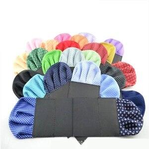 Роскошный мужской носовой платок, предварительно Складной Карманный платок в горошек, Формальное, свадебное, вечернее, деловое полотенце д...