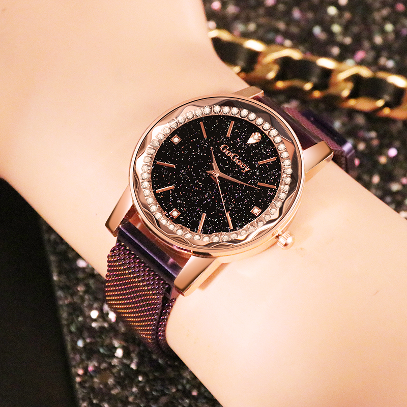 Mesh Magnetic Strap Watches Women 2018 Luxury Brand New Fashion Starry Sky Wristwatch Waterproof Quartz Watch Montre Femme RelojMesh Magnetic Strap Watches Women 2018 Luxury Brand New Fashion Starry Sky Wristwatch Waterproof Quartz Watch Montre Femme Reloj