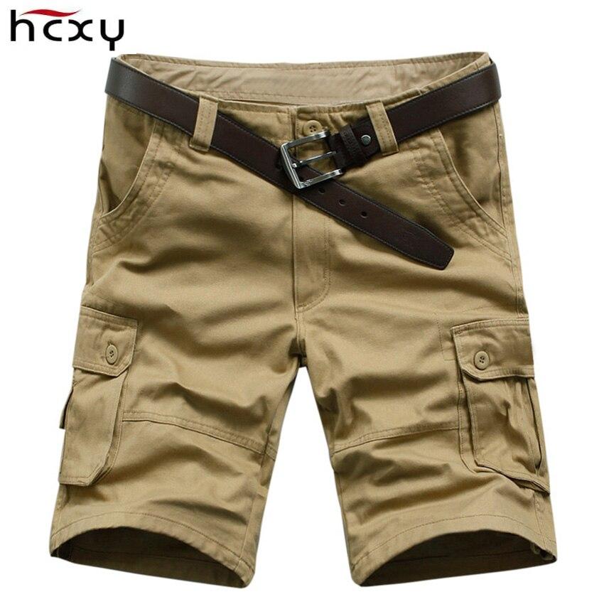 2016-os férfi katonai alkalmi rövidnadrág sok zseb rövidnadrág - Férfi ruházat